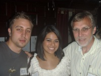 Jeremiah Hammerling, Danielle Barrera and Dr. Roy Hammerling