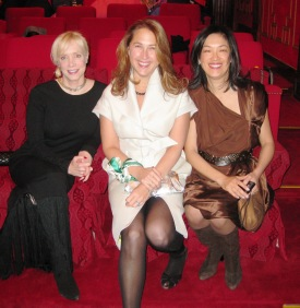 Katherine Gehl, Anne Wedner and Grace Tsao-Wu in the White House theater