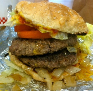 Don't be fooled by two patties - this is just The Hamburger