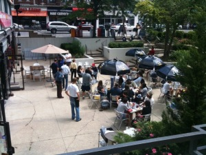 Patio at Sarks in the Park