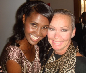 With supermodel Ubah Hassan