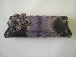 purple python clutch